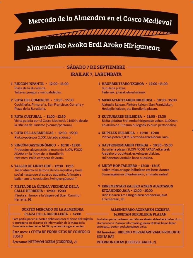 Mercado de la Almenda, sábado 7 de septiembre