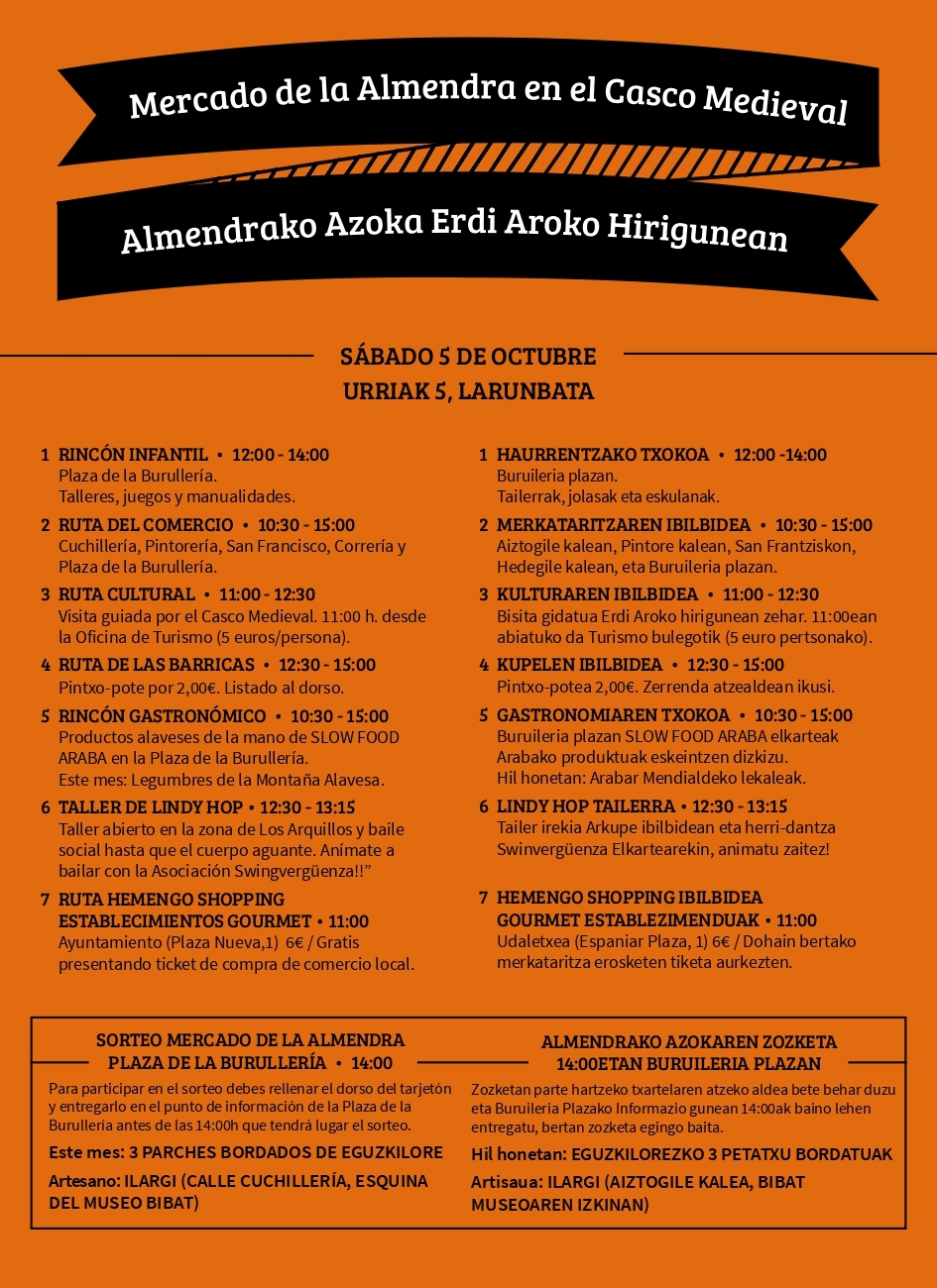 Mercado de la Almendra sábado 5 de octubre