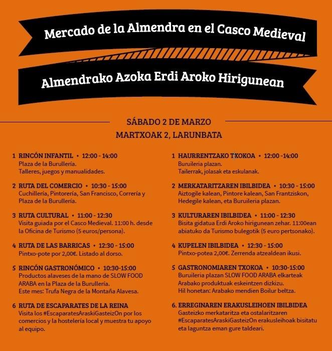 Este sábado 2 de marzo vuelve el Mercado de la Almendra al Casco Medieval