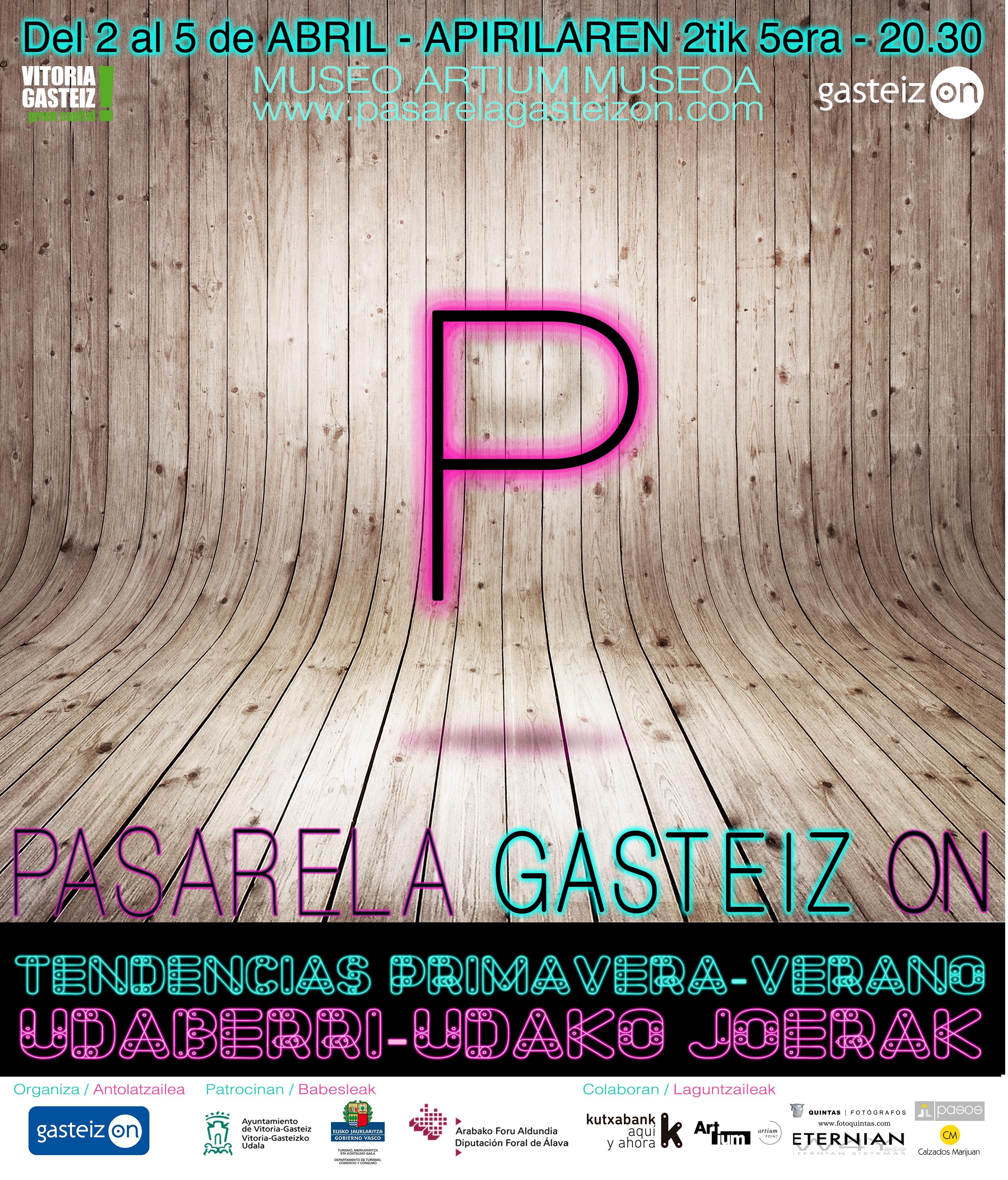 La Pasarela Gasteiz On acogerá del 2 al 5 de abril la XXXV edición de la Semana de la Moda de Vitoria-Gasteiz