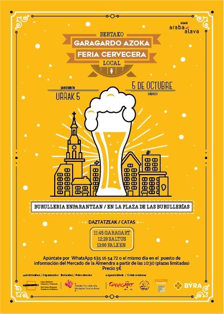 Este sábado celebramos la FERIA DE LA CERVEZA LOCAL en el casco medieval
