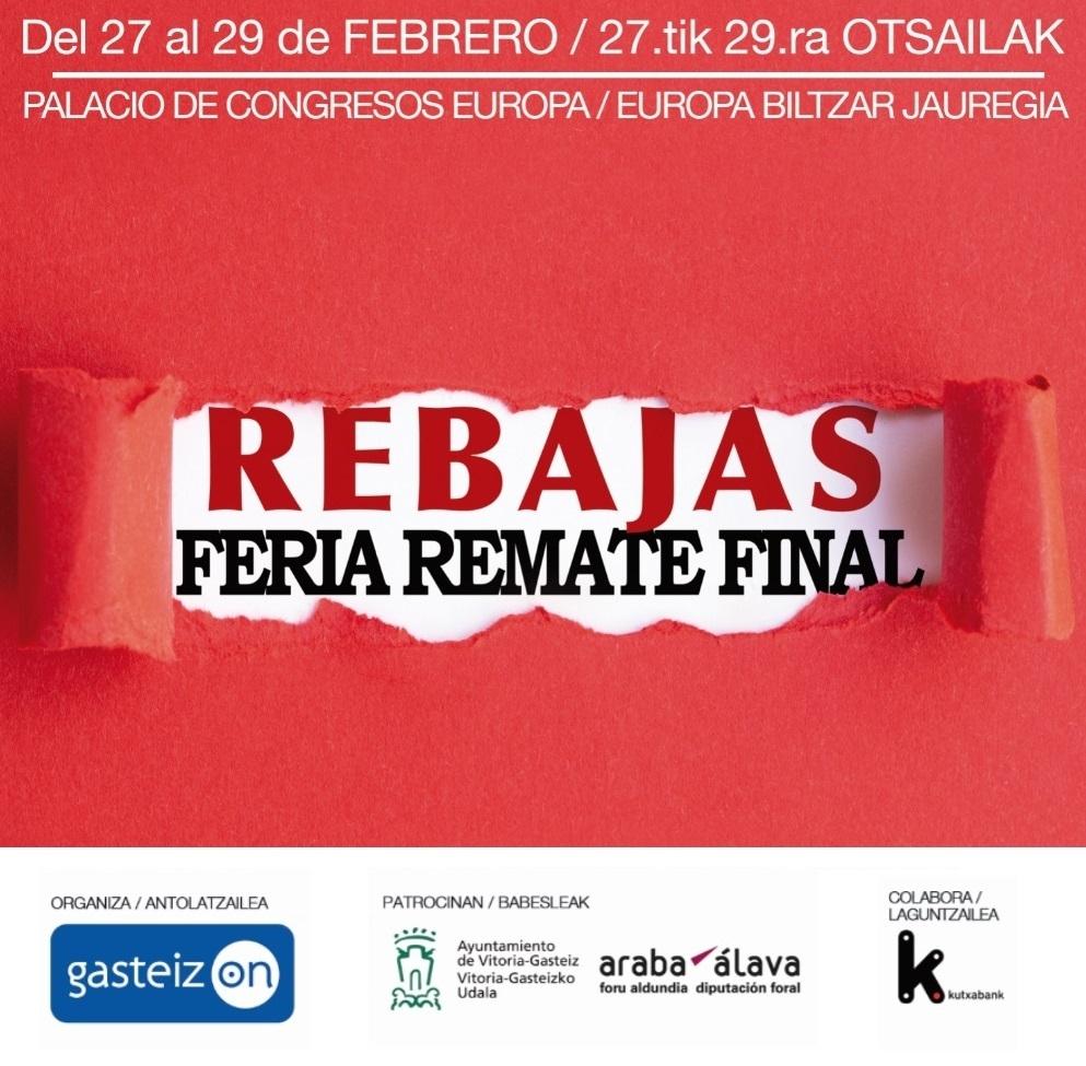 Feria Remate Final de Rebajas del 27 al 29 de febrero