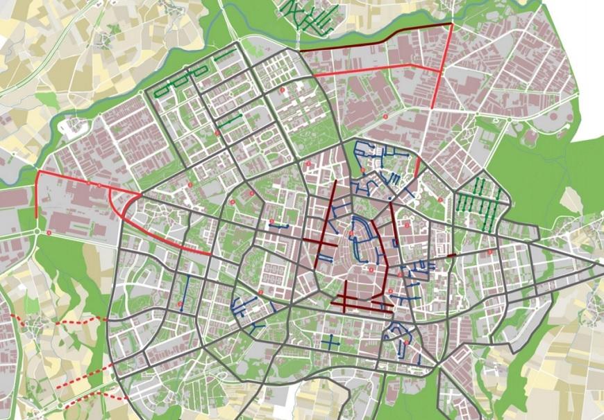 Intervención en la calle San Antonio para la coexistencia de vehículos y peatones
