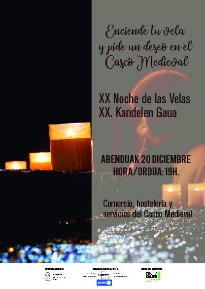 Este viernes 20 de diciembre celebramos la Noche de las Velas