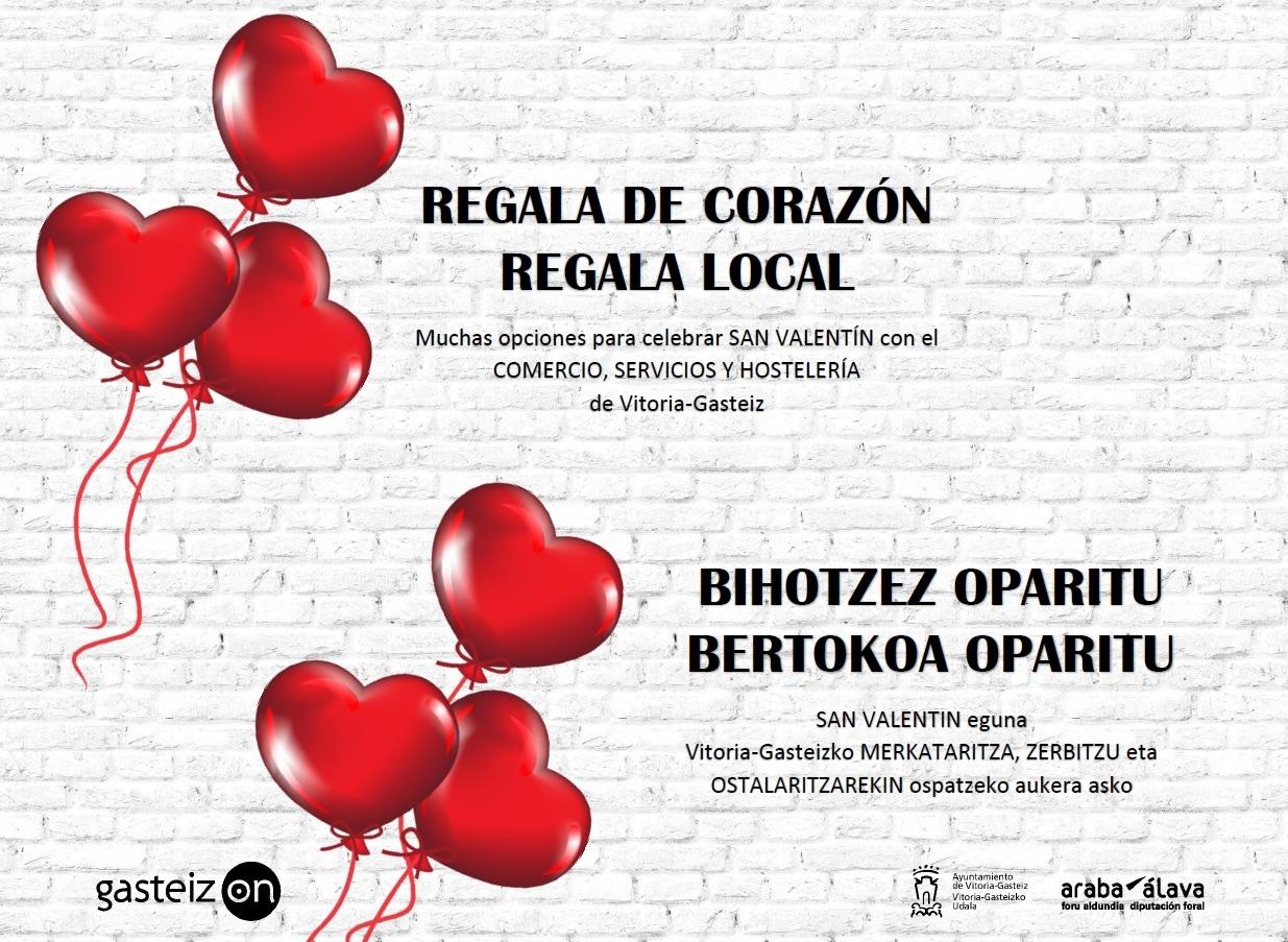 San Valentín en el comercio local