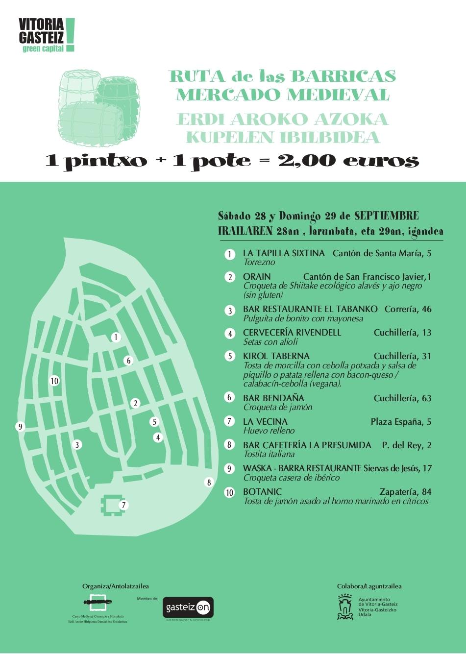 Mercado Medieval de Vitoria Gasteiz del 27 al 29 de septiembre